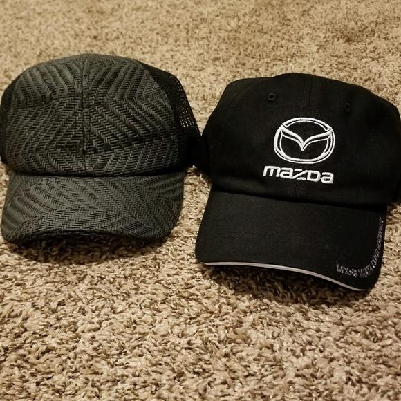 c4930c440 2 hat Bundle Mazda Miata Club Member Black Rattan